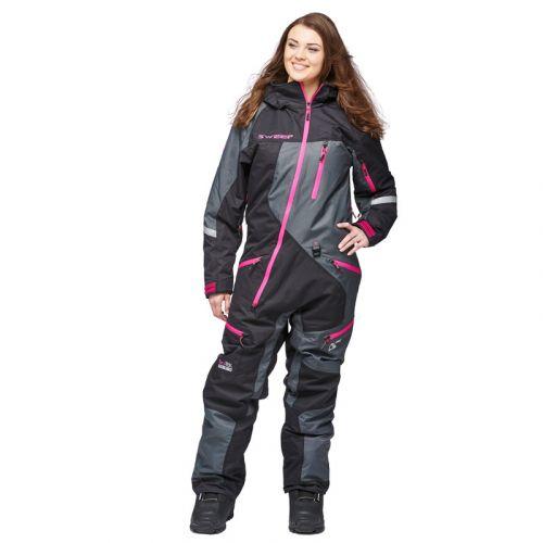 Sweep Snow Queen 2 ladies insulated suit musta/harmaa/pinkki