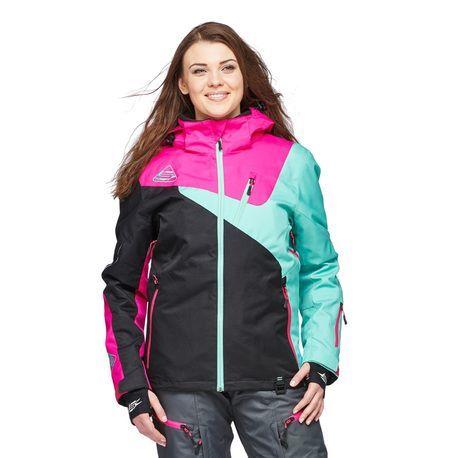 Sweep Blizzard 2.0. naisten takki musta/pinkki/minttu