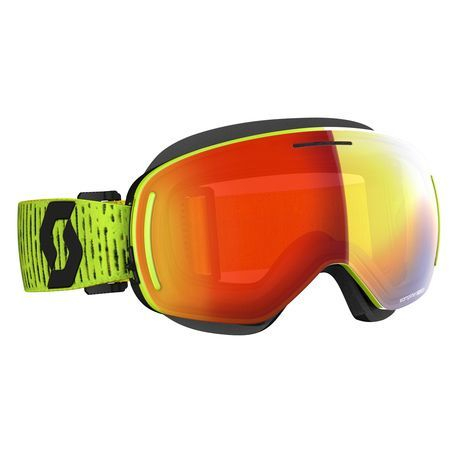 Scott Goggle LCG Evo Snow Cross kelkkalasit yellow enhancer red chrome