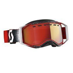 Scott Goggle Prospect ajolasit Snow Cross white/red enhancer red chrome
