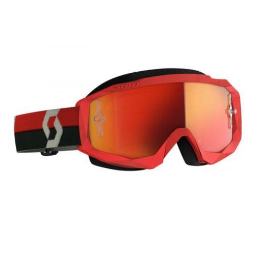 Scott Hustle X MX red/grey, orange chrome works