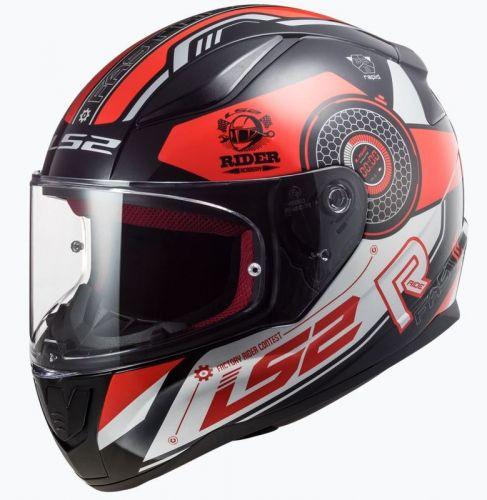 LS2 Mopokypärä FF353 Rapid Stratus musta/punainen/hopea