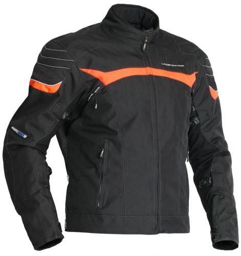 Lindstrands Cheops miesten moottoripyöräajotakki musta-oranssi