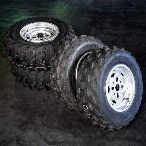"""Honda mönkijän rengassarja 12"""" peltivanteilla Dunlop KT515"""