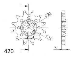 JT- Etuhammasratas F413-13