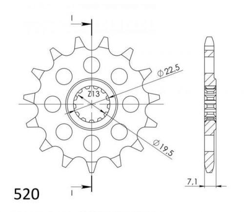 JT- Etuhammasratas F434-15