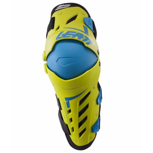 Leatt polvisuojapari Knee & Shin Guard Dual Axis Lime/Blue
