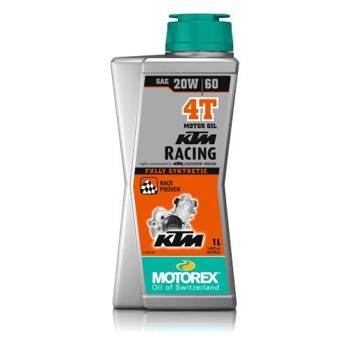 KTM Racing 4T 20W-60 synteettinen kilpamoottoriöljy 4 litraa