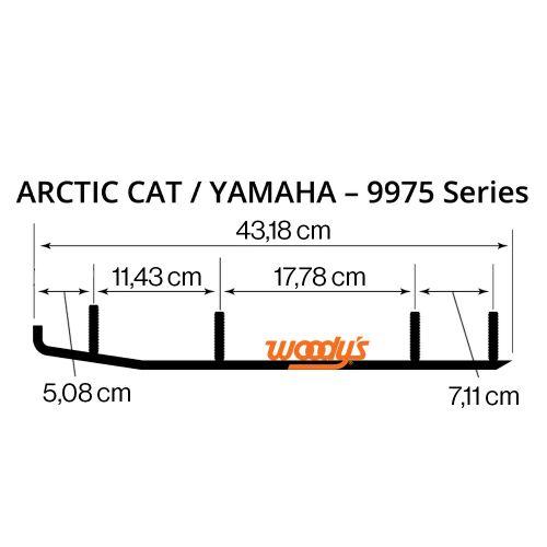 Ohjainrautapari Woody's WAT-9975 Arctic Cat / Yamaha